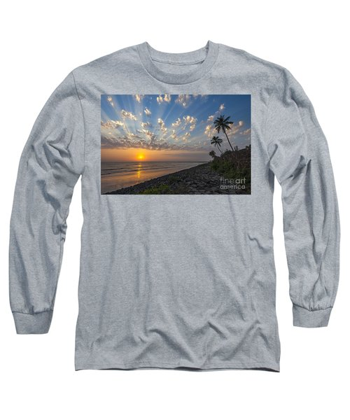 Long Sleeve T-Shirt featuring the photograph Sunset At Alibag, Alibag, 2007 by Hitendra SINKAR