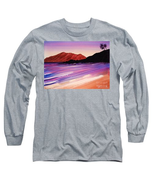 Sunset At Black Rock Maui Long Sleeve T-Shirt
