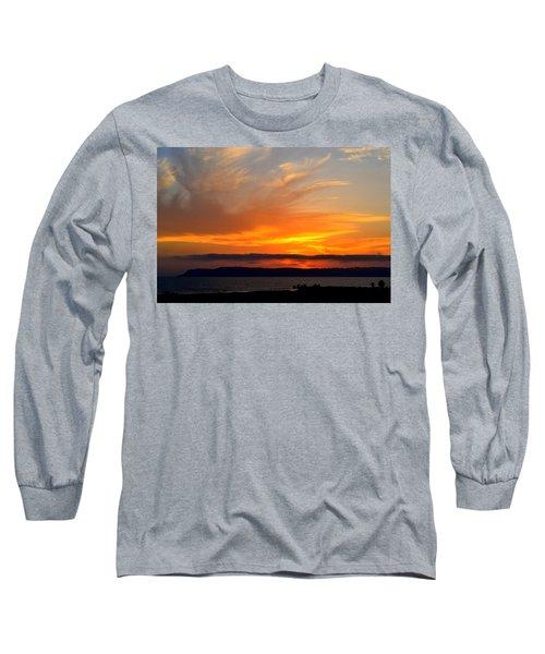 Sunset At Point Loma From Coronado California Long Sleeve T-Shirt