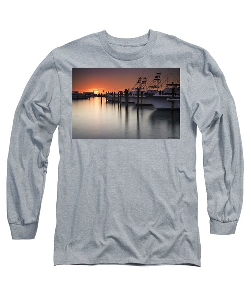 Sunset At The Pelican Yacht Club Long Sleeve T-Shirt