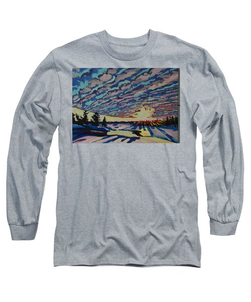 Sunset Deformation Long Sleeve T-Shirt by Phil Chadwick