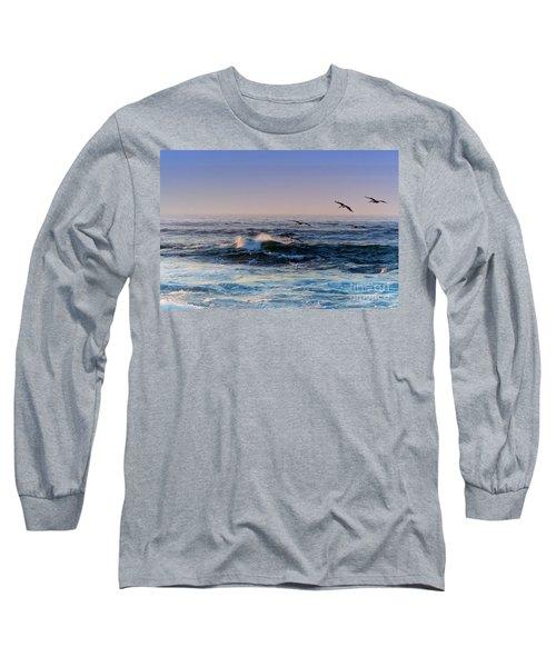 Sunset Fly Long Sleeve T-Shirt by Kathy Bassett