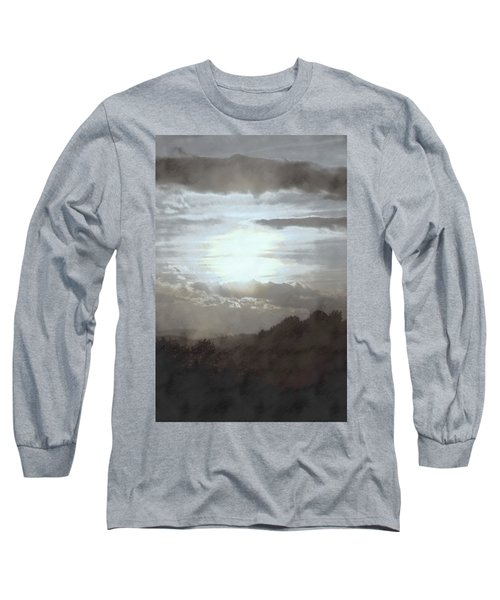Sunset Impressions Over The Blue Ridge Mountains Long Sleeve T-Shirt by Photographic Arts And Design Studio