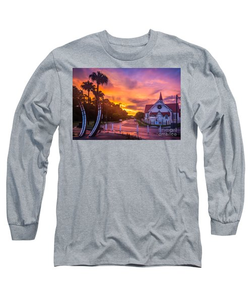 Long Sleeve T-Shirt featuring the photograph Sunset In Sandgate by Peta Thames