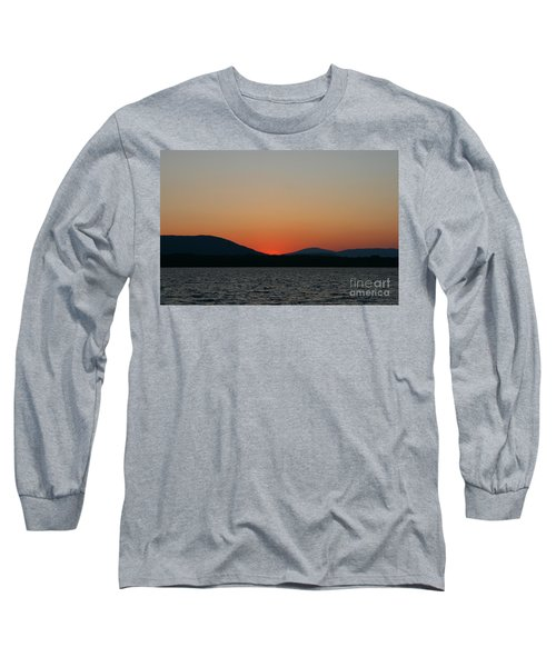 Sunset Lines Of Lake Umbagog  Long Sleeve T-Shirt