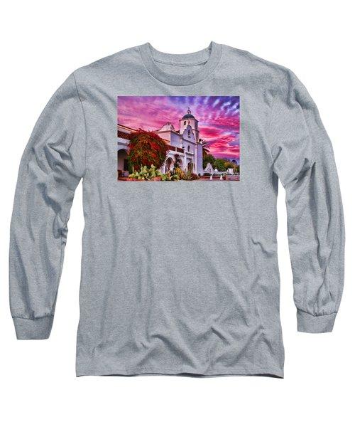 Sunset Mission San Luis Rey De Francia By Diana Sainz Long Sleeve T-Shirt