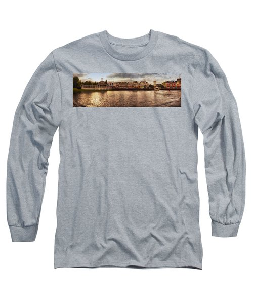 Sunset On The Boardwalk Walt Disney World Long Sleeve T-Shirt by Thomas Woolworth