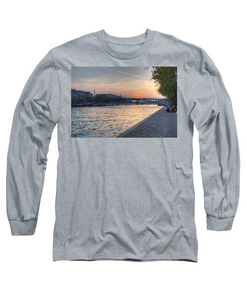Sunset On The Seine Long Sleeve T-Shirt