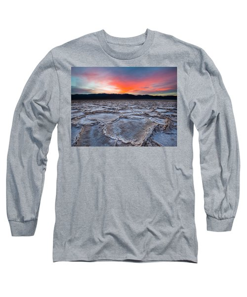 Sunset Over Badwater Long Sleeve T-Shirt