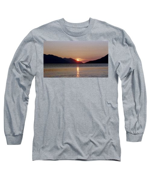 Sunset Over Cook Inlet Alaska Long Sleeve T-Shirt