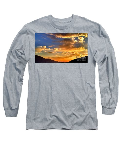 Sunset Over The Pass Long Sleeve T-Shirt by Chris Tarpening