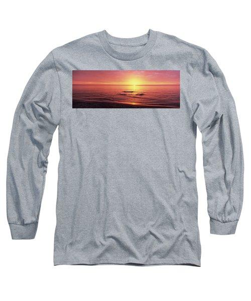 Sunset Over The Sea, Venice Beach Long Sleeve T-Shirt