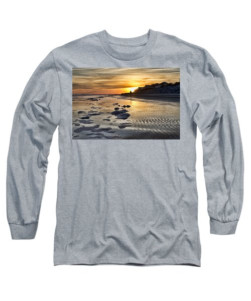 Sunset Wild Dunes Beach South Carolina Long Sleeve T-Shirt