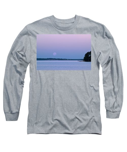 Super Moon Setting-1 Long Sleeve T-Shirt by Charles Hite