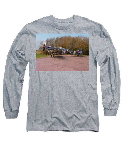 Supermarine Spitfire Hf Mk. Ixe Mj730 Long Sleeve T-Shirt