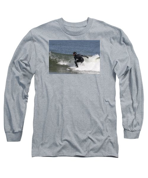Long Sleeve T-Shirt featuring the photograph Surfer Hitting The Curl by John Telfer