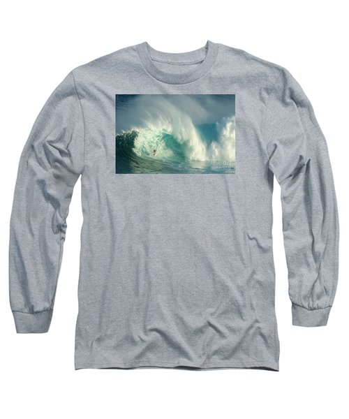 Surfing Jaws 3 Long Sleeve T-Shirt by Bob Christopher