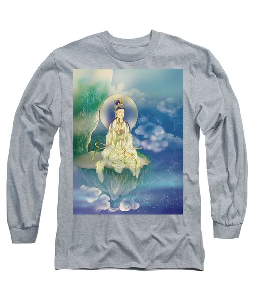 Long Sleeve T-Shirt featuring the photograph Sutra-holding Kuan Yin by Lanjee Chee