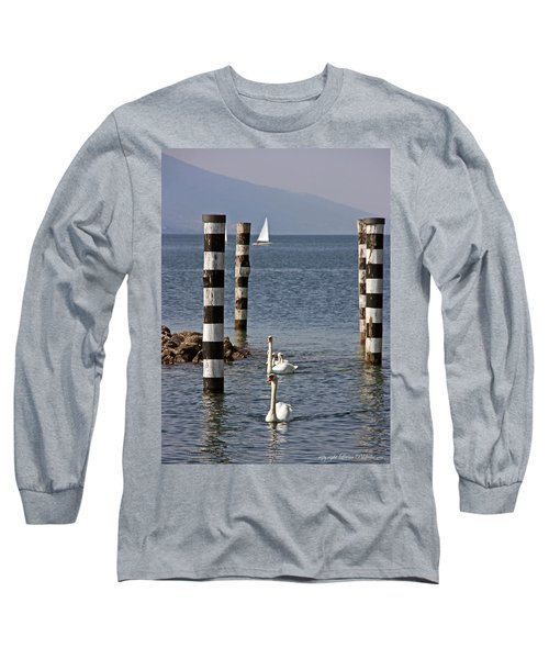 Long Sleeve T-Shirt featuring the photograph Swan Lake by Leena Pekkalainen
