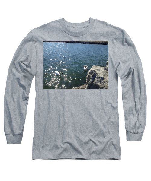 Swans And Sparkles Long Sleeve T-Shirt