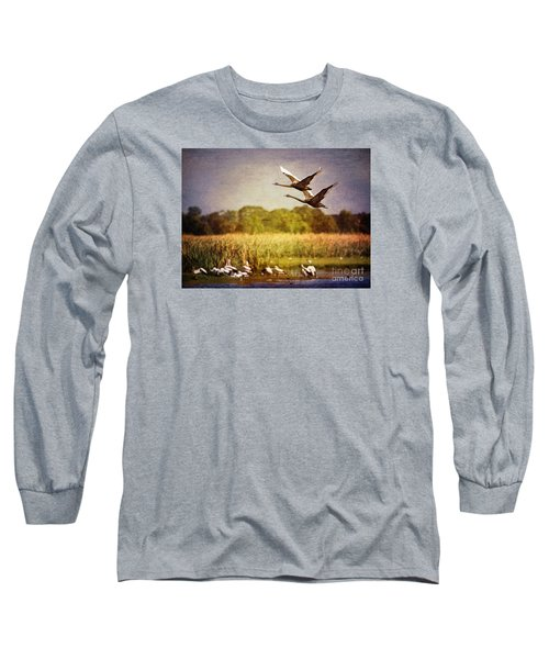 Swans In Flight Long Sleeve T-Shirt
