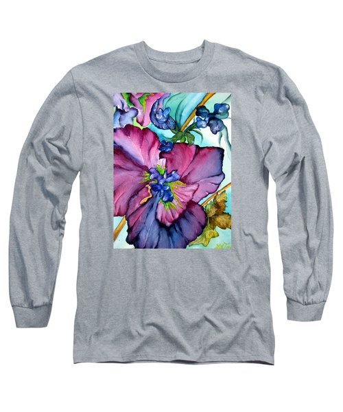 Sweet And Wild In Turquoise And Pink Long Sleeve T-Shirt by Lil Taylor