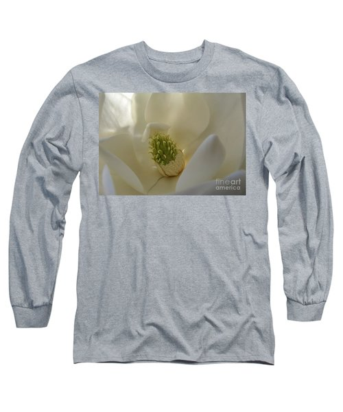 Sweet Magnolia Long Sleeve T-Shirt by Peggy Hughes