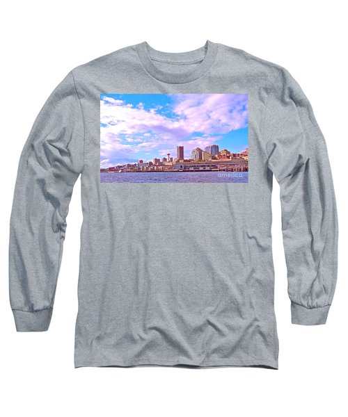 Sweet Seattle Long Sleeve T-Shirt by Gem S Visionary
