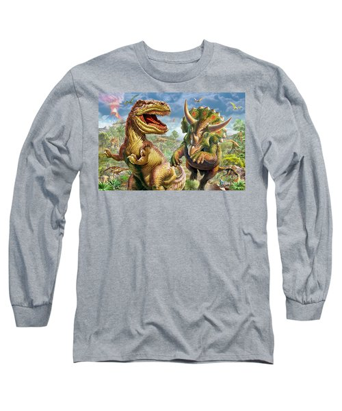 T-rex And Triceratops Long Sleeve T-Shirt