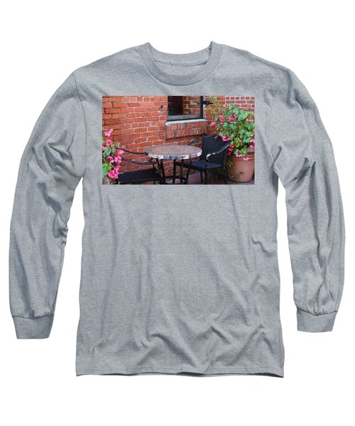 Long Sleeve T-Shirt featuring the photograph Table For Two by Cynthia Guinn