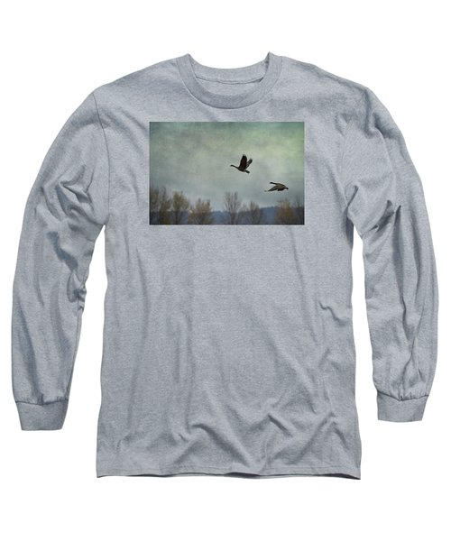 Taking Flight Long Sleeve T-Shirt by Belinda Greb