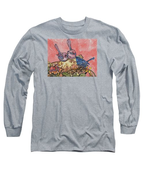 Long Sleeve T-Shirt featuring the painting Talk It Over by Connie Valasco