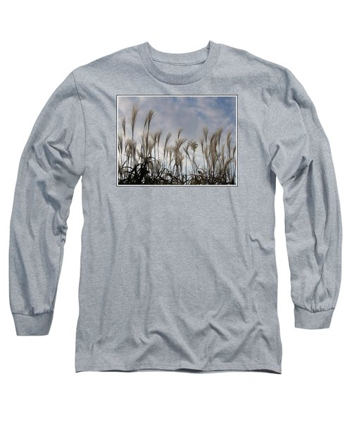 Tall Grasses And Blue Skies Long Sleeve T-Shirt