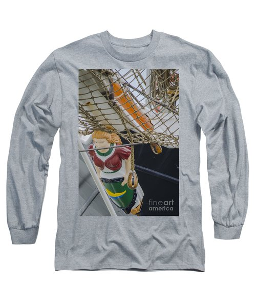 Tall Ship Gunilla Masthead Long Sleeve T-Shirt by Dale Powell
