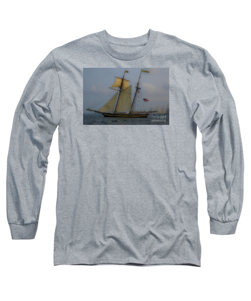 Tall Ships In The Lowcountry Long Sleeve T-Shirt by Dale Powell