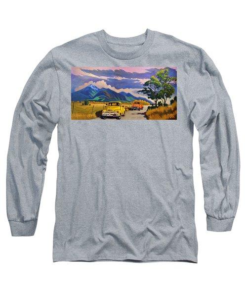 Taos Joy Ride With Yellow And Orange Trucks Long Sleeve T-Shirt