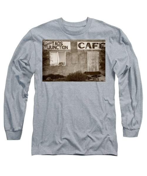 Taos Junction Cafe Long Sleeve T-Shirt by Steven Bateson