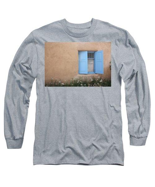 Long Sleeve T-Shirt featuring the photograph Taos Window Vi by Lanita Williams