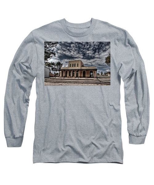 Long Sleeve T-Shirt featuring the photograph Tel Aviv First Railway Station by Ron Shoshani