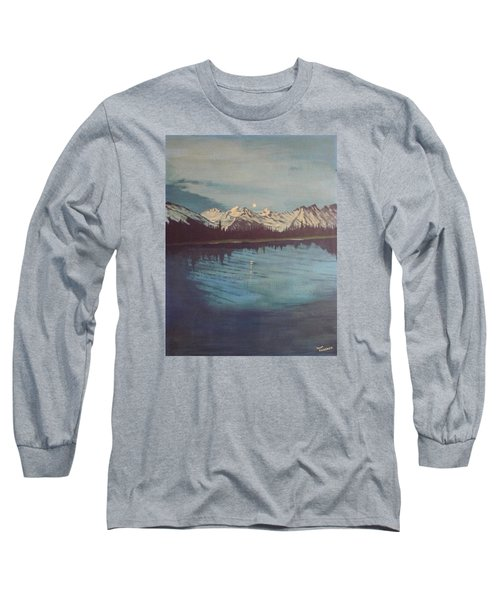 Long Sleeve T-Shirt featuring the painting Telequana Lk Ak by Terry Frederick
