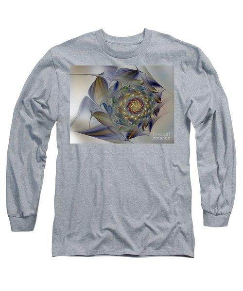Tender Flowers Dream-fractal Art Long Sleeve T-Shirt