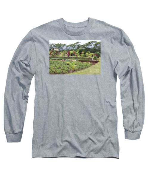 Long Sleeve T-Shirt featuring the photograph Tending The Land by Suzanne Luft