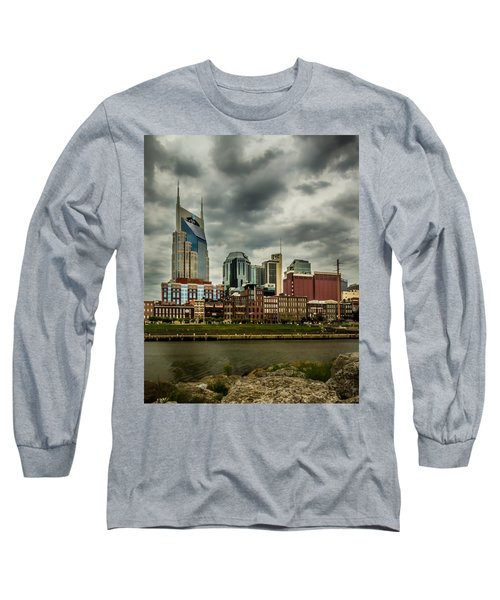 Tennessee - Nashville From Across The Cumberland River Long Sleeve T-Shirt