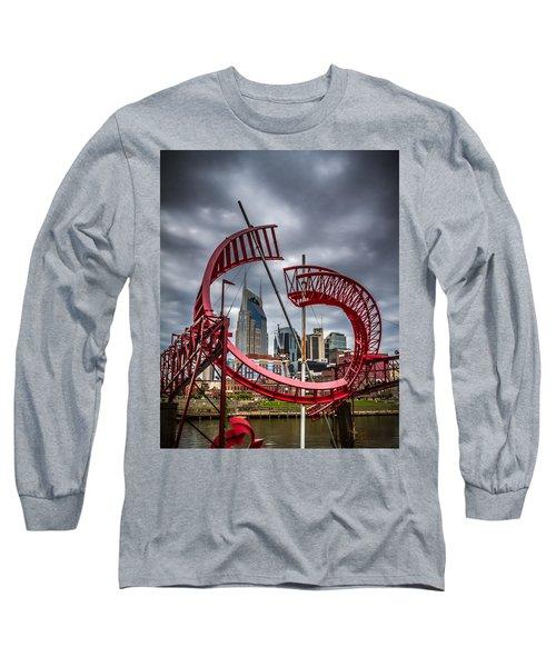 Tennessee - Nashville Through Sculpture Long Sleeve T-Shirt