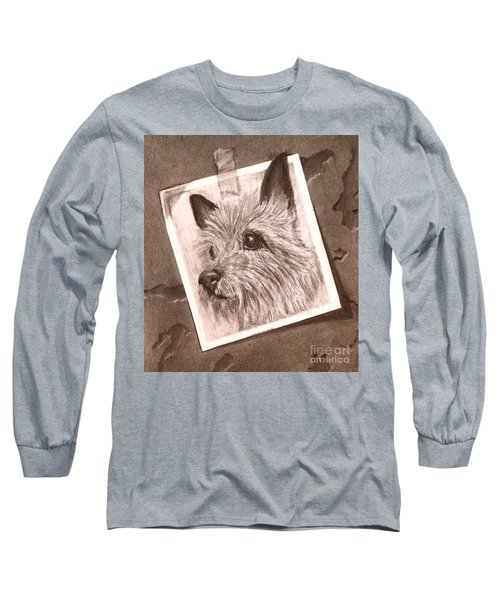 Terrier As Optical Illusion Long Sleeve T-Shirt