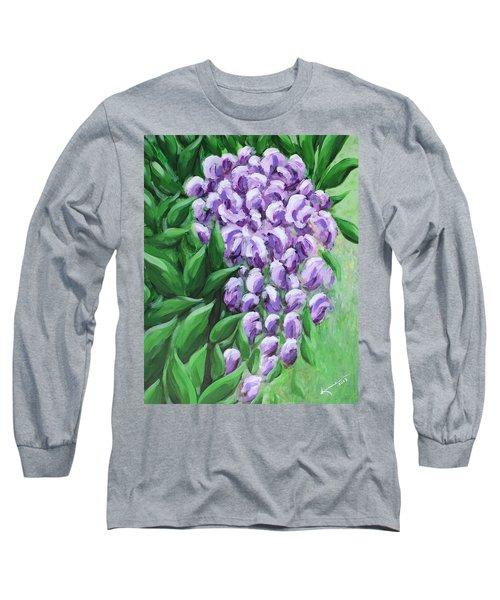 Texas Mountain Laurel Long Sleeve T-Shirt by Kume Bryant