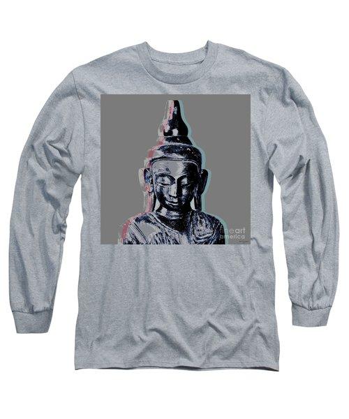 Thai Buddha #2 Long Sleeve T-Shirt by Jean luc Comperat