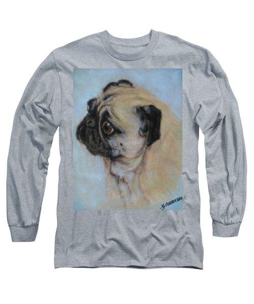 Pug's Worried Look Long Sleeve T-Shirt