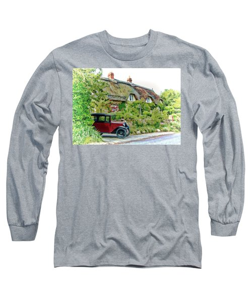 Thatched Cottages At Reybridge Long Sleeve T-Shirt