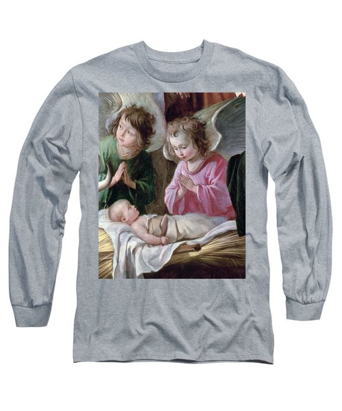 The Adoration Of The Shepherds, Angels And Child, C.1640 Oil On Canvas Detail Of 99414 Long Sleeve T-Shirt